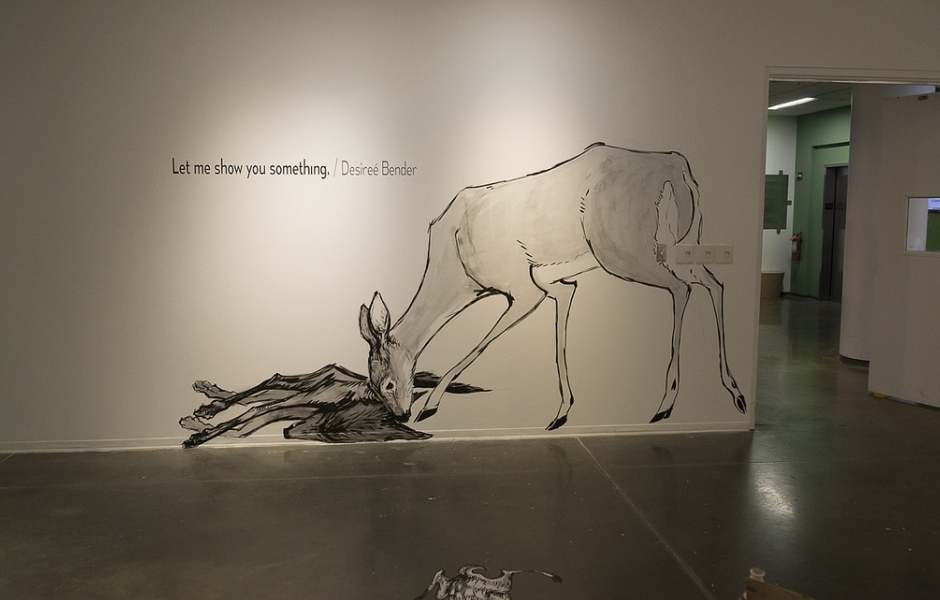 Title and mural by Desiree Bender