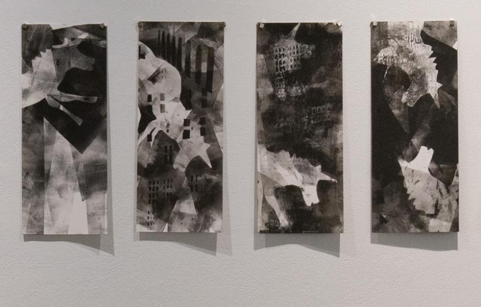 Closeup of artwork by Beth Pulcinella
