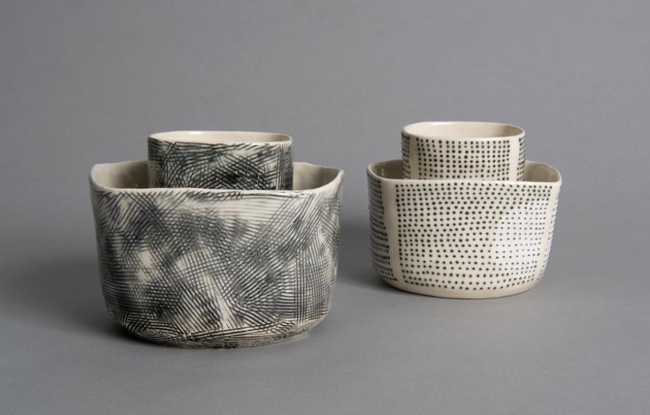 ceramics pieces gray
