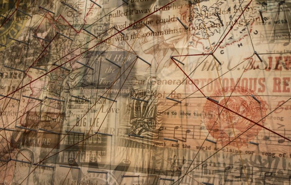 detail of artwork in Radical Jewish Philadelphia