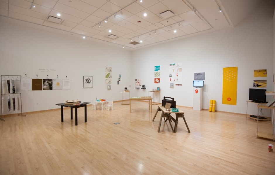 installation view of MFA Thesis design show