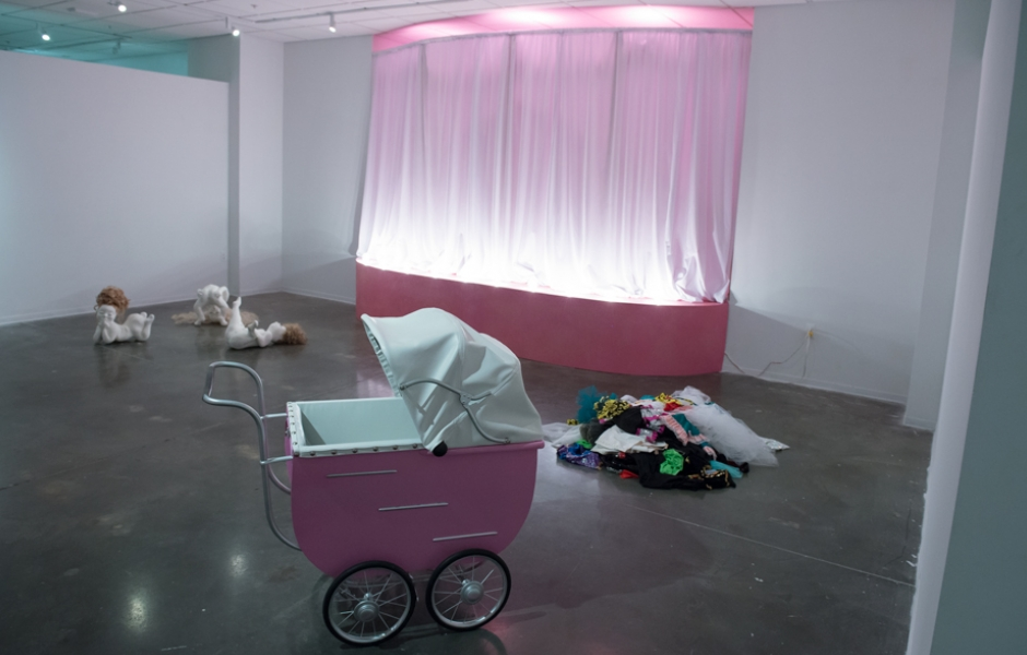 installation view of Sr. Sculpture Thesis show