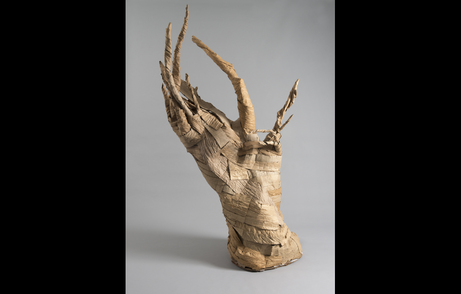 a student-made sculpture created in the foundations program