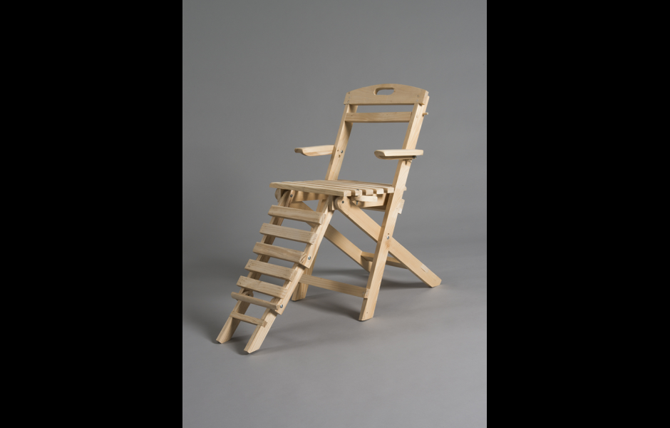a student-made chair created in the foundations program