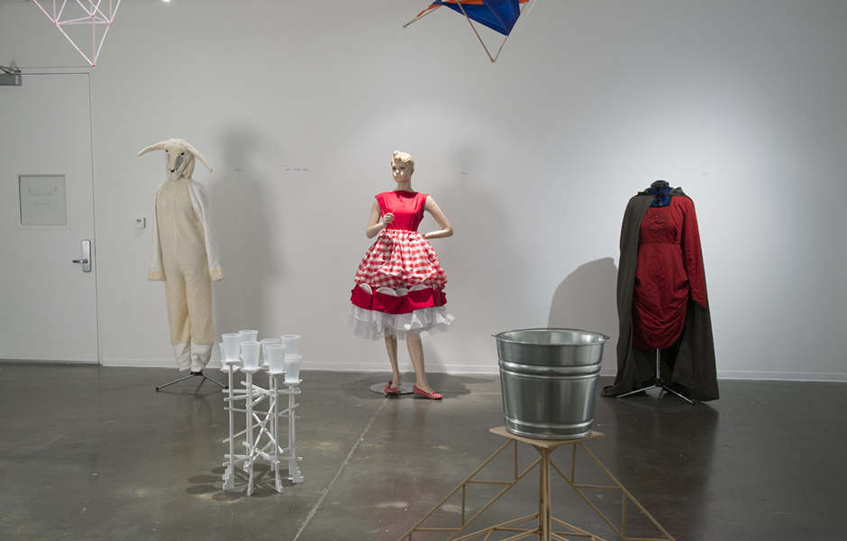 a student-made dress featured in the foundations exhibition