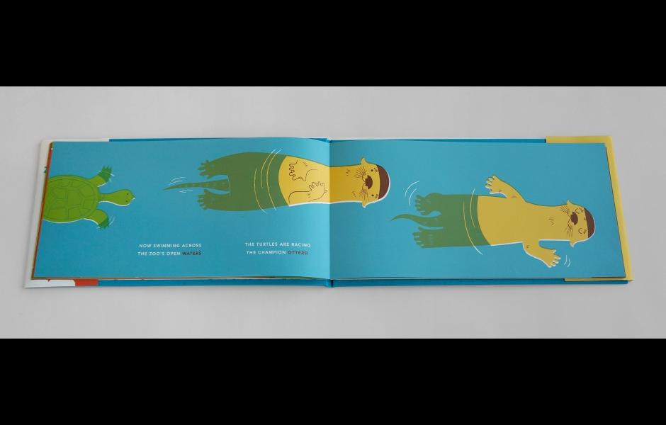 Zoolympics children's book spread