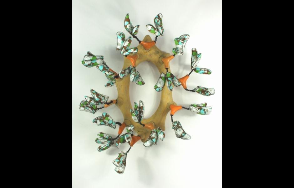 Ceramics wreath by Jill Allen