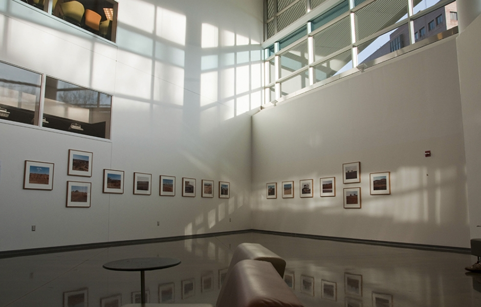 gallery of student work in photo area