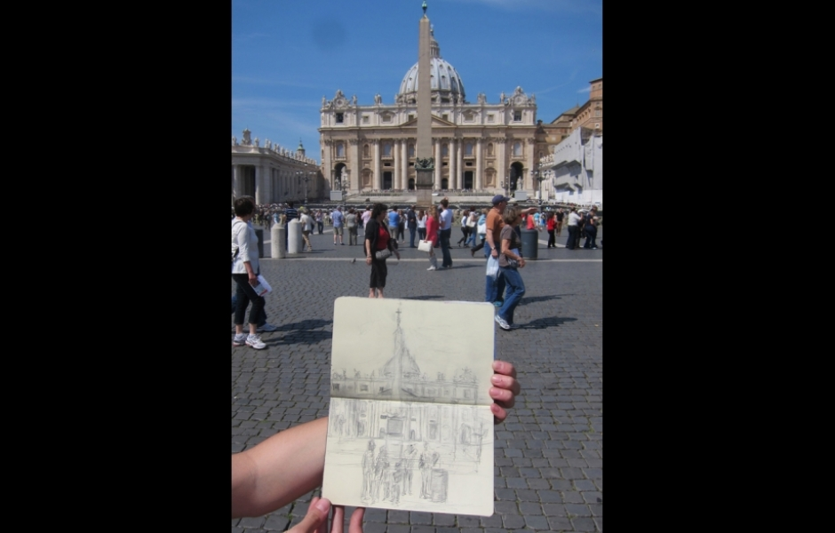 Sketch of St. Peter's