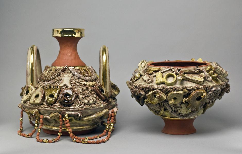 Centuripe Series: Oil Lamps (detail) by Lauren Sandler