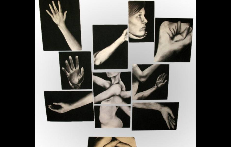 a abstract collection of images of body parts