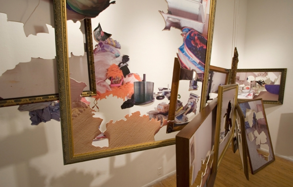 frame installation in gallery