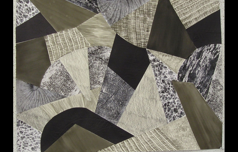 a black-and-white quilt